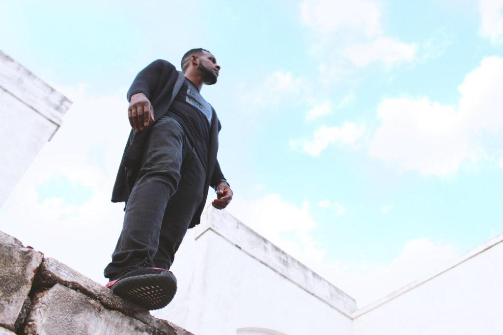 Elijah standing on ledge